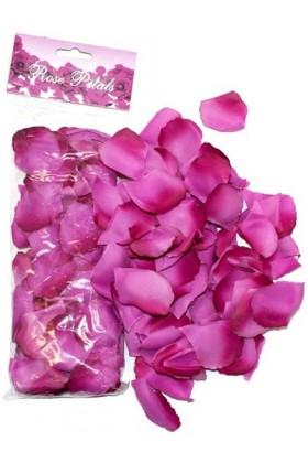 Petales de roses en tissus pourpre
