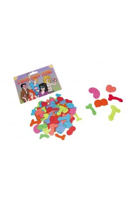 Confetti colorés forme seins et penis