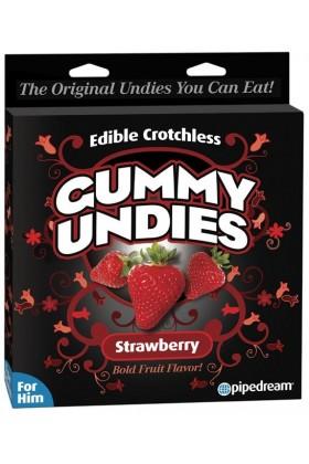 Slip comestible pour homme Gummy à la fraise
