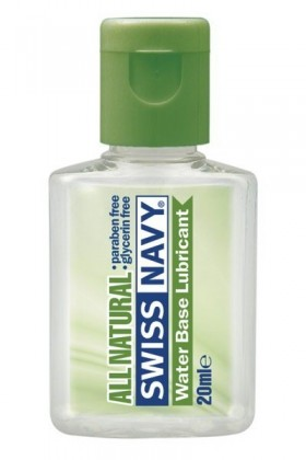 LUBRIFIANT SWISS NAVY ALL NATURAL WATER BASE 20ML