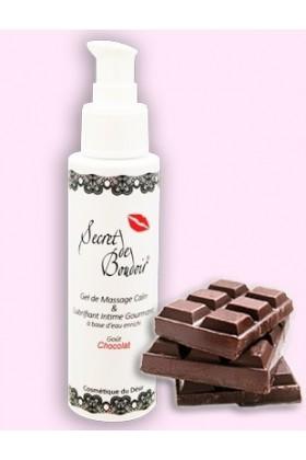 Gel de Massage Lubrifiant comestible 4en1 Chocolat